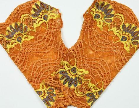 manchettes orange or