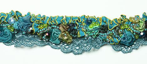 collier romantique turquoise