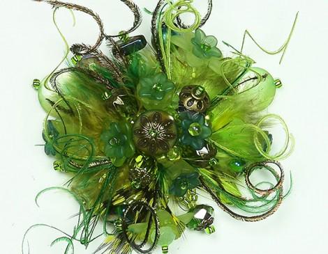bague plumes bijou plumes bague romantique bague verte bague été bijou mode